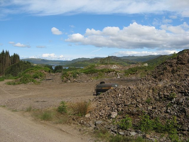 Quarry above Loch Teacuis