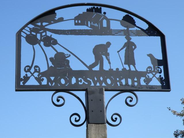 Molesworth village sign