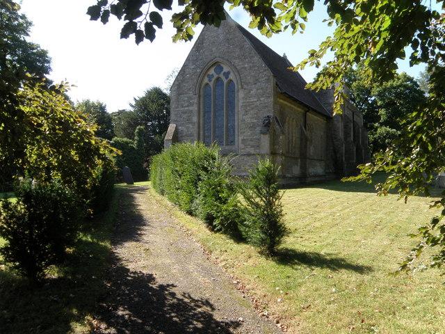 Yew lined path, Molesworth