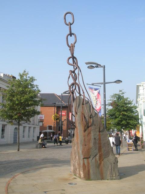 Fascinating sculpture in Fareham town centre