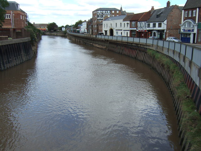 The River Nene between the bridges, Wisbech