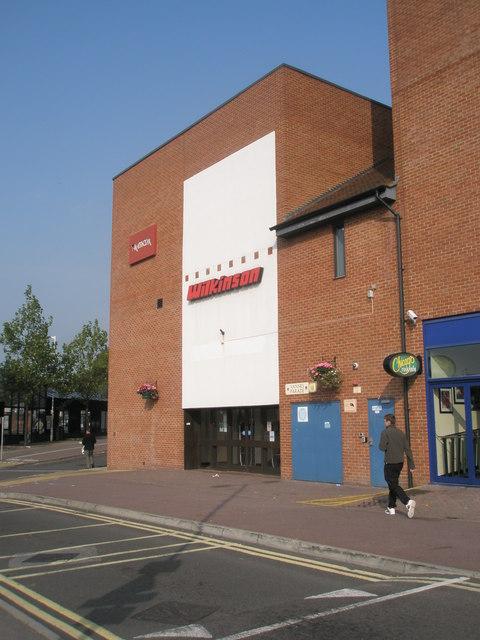 Rear of Wilkinson's  in Fareham town centre