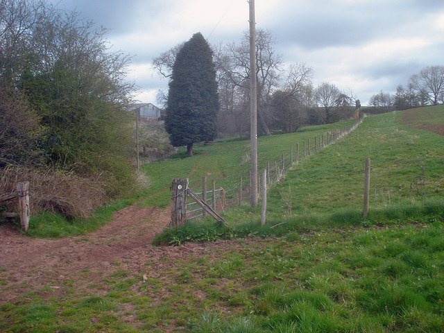 Footpath to Uphampton Farm