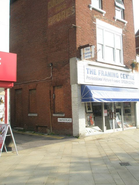 The Framing Centre at the junction of West Street with Cawte Place