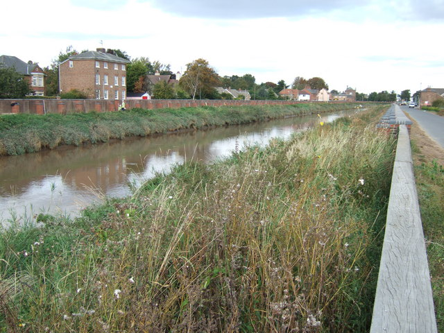 The River Nene looking towards Wisbech