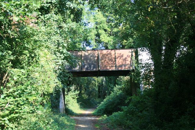 Former railway track & bridge?