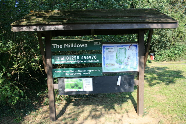 The Milldown information board