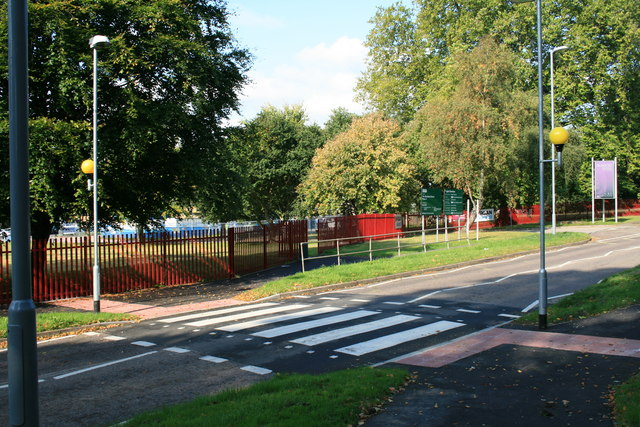 Zebra crossing outside Blandford School
