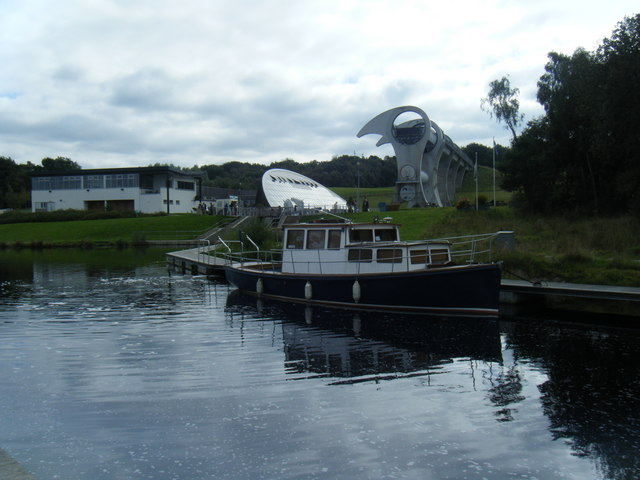 Forth and Clyde Canal by Falkirk Wheel.