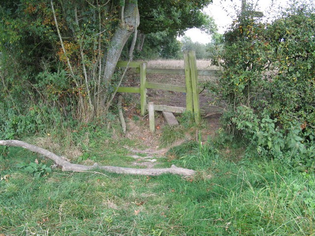 Broken stile near Nymans Farm