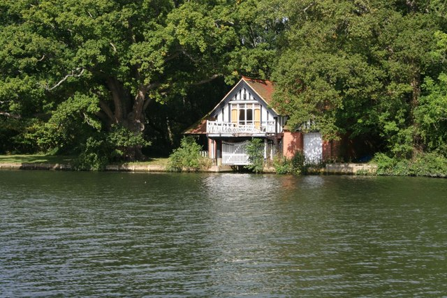 Boathouse over the river