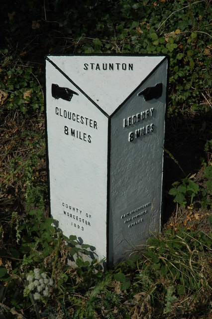 Milepost in Staunton