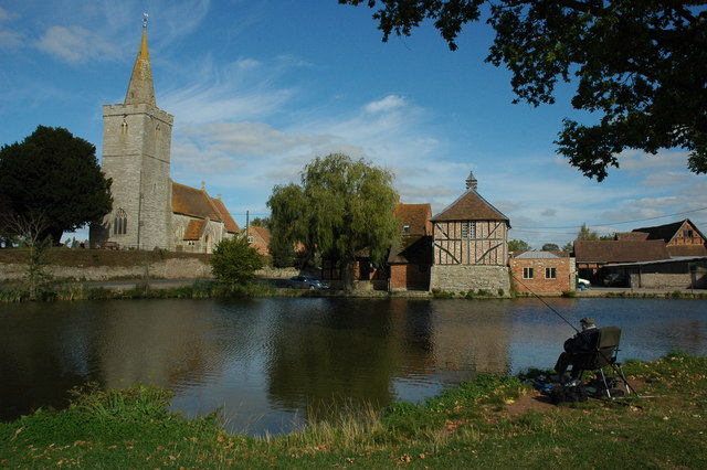 Staunton Church and duck pond