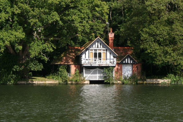 Boathouse on the river