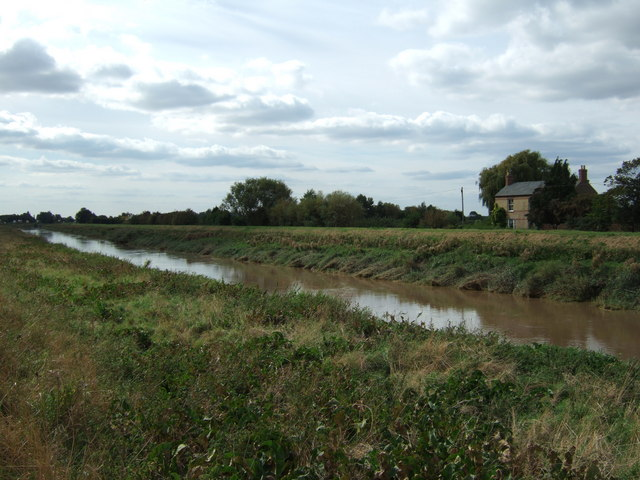 The River Nene south of Wisbech