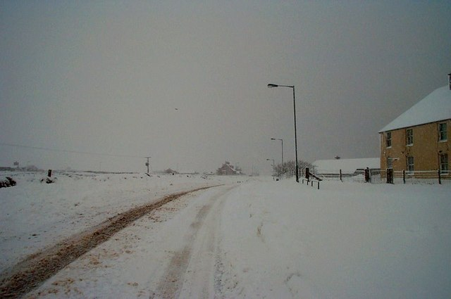 Snow at Daisy Park, Baltasound