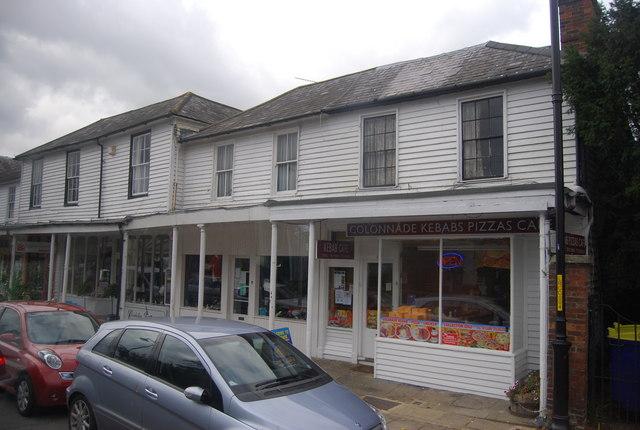 Colonnade of shops, Hawkhurst