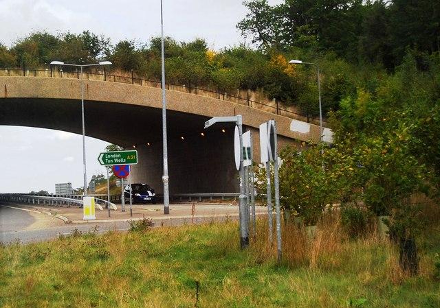Bridge over the A21 Lamberhurst bypass