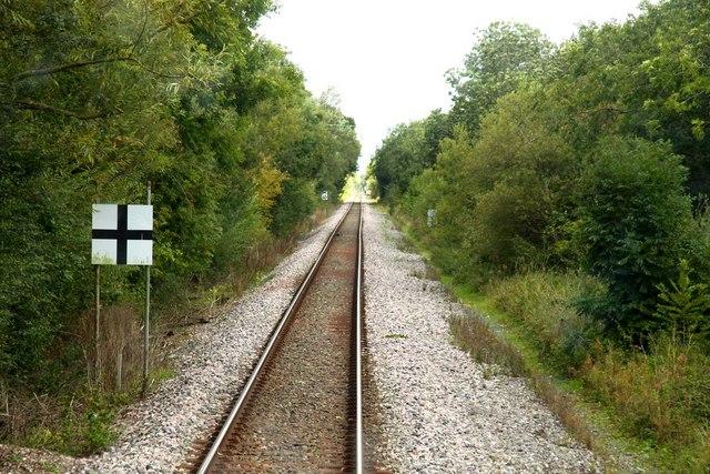 Advance warning of Langford Lane crossing