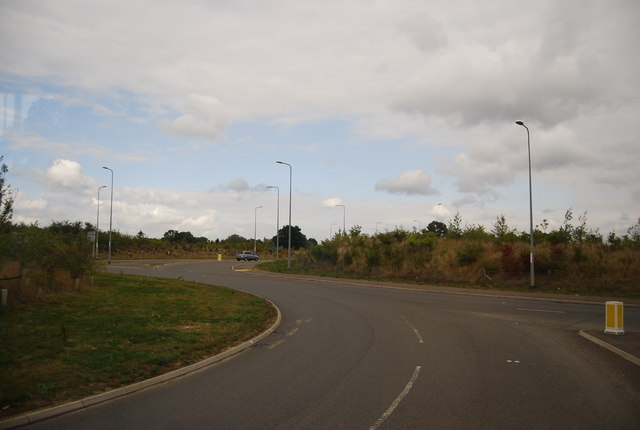 Approaching the roundabout at the northern end of the Lamberhurst Bypass