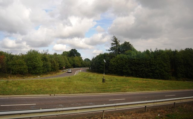 Slip road off the A21 to Tunbridge Wells