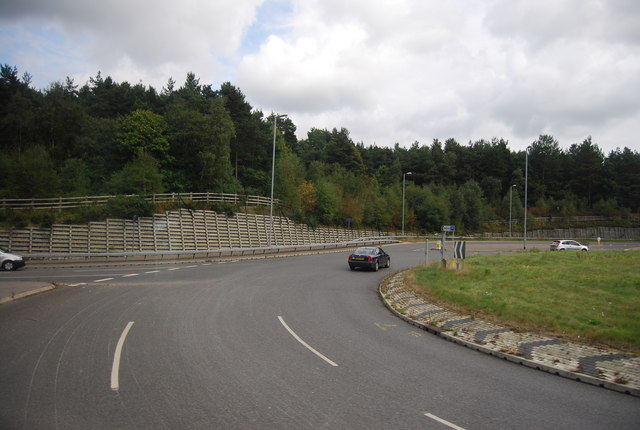 Roundabout at the northern end of the Pembury bypass