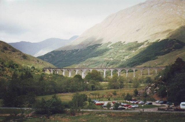 Car park at Glenfinnan. Scotland