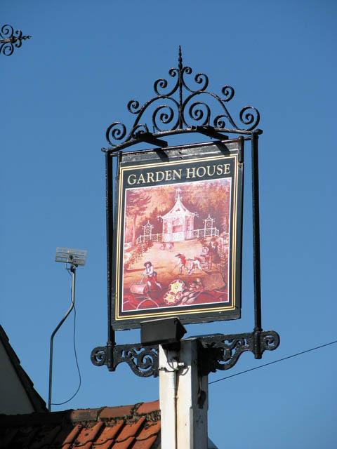The Garden House public house - pub sign