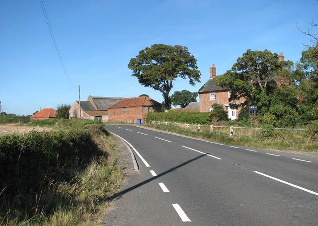 The B1074 past Pond Farm