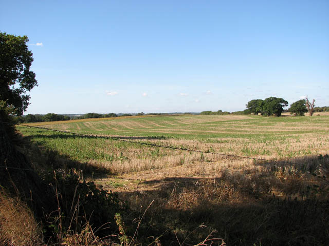 Stubble field south of the B1074