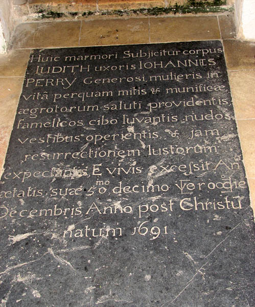 St Margaret's church - C17 ledger slab