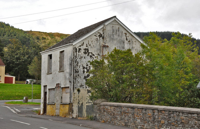 The derelict Station Master's house - Glyncorrwg