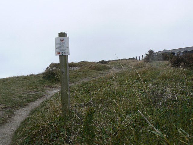 'Access Land' sign on cliff walk