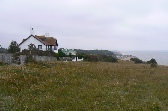 Clifftop houses near Oldstairs Bay