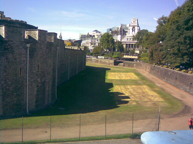 Lawn around the Tower of London