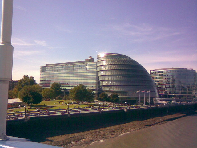 The City Hall viewed from Tower Bridge