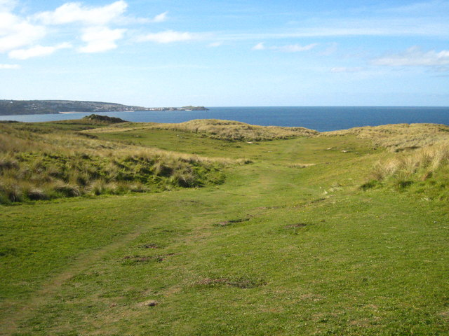 Grass covered dunes on Common Towans