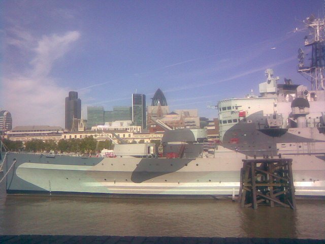 The bow of HMS Belfast