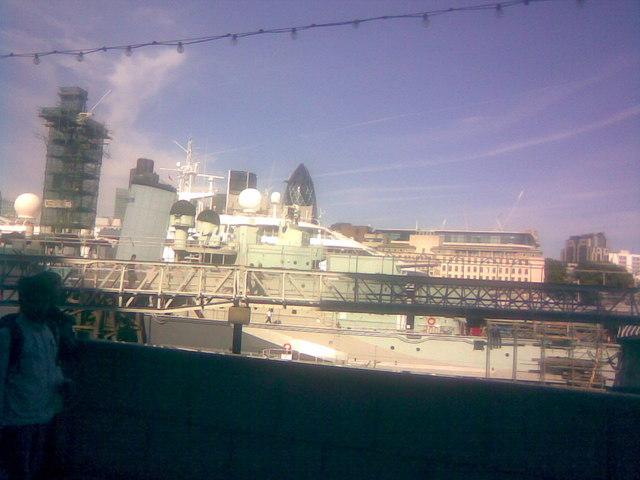 The stern of HMS Belfast