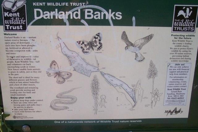 Information Board on Darland Banks Nature Reserve