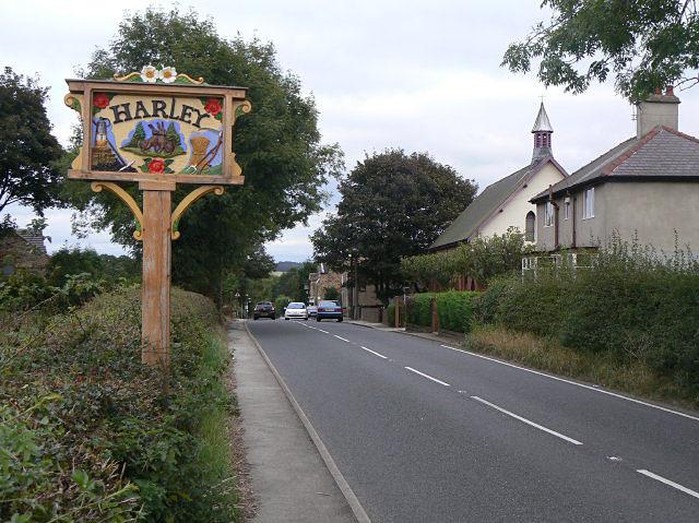 Harley village sign