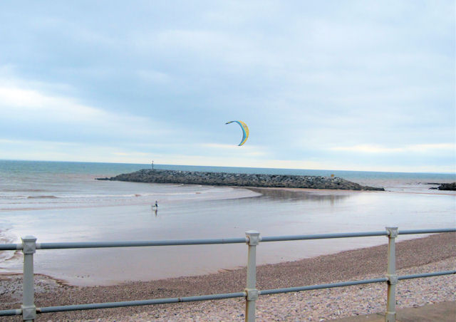 Kite surfer off Sidmouth