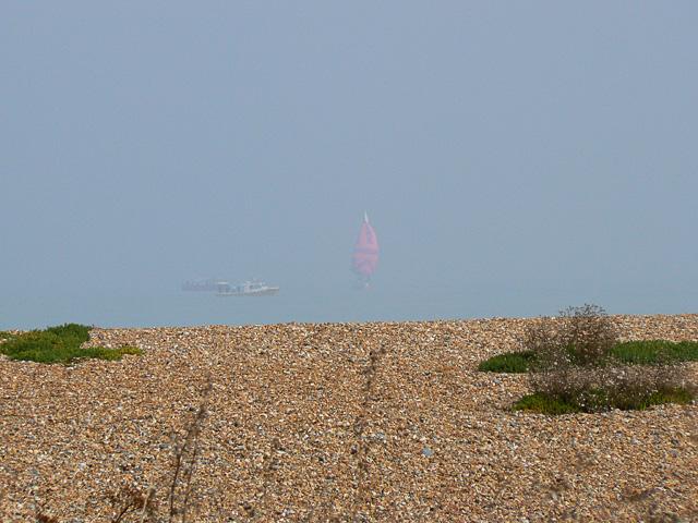 Red sail off Deal beach