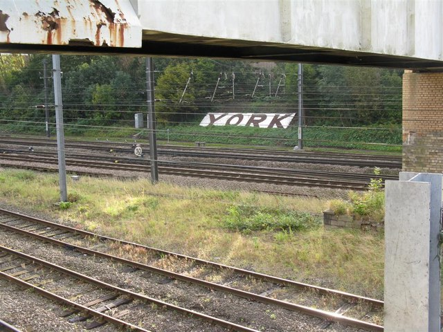 Looking across the tracks to York