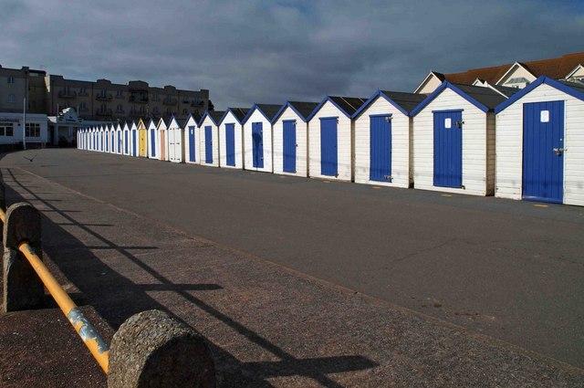 Preston sands beach huts, Paignton