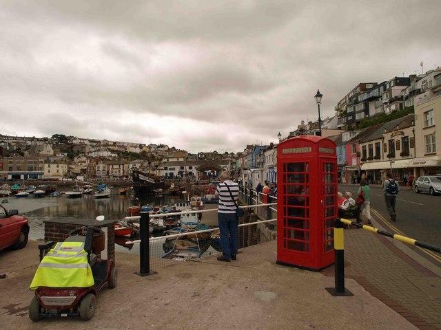 Telephone box, Brixham harbour