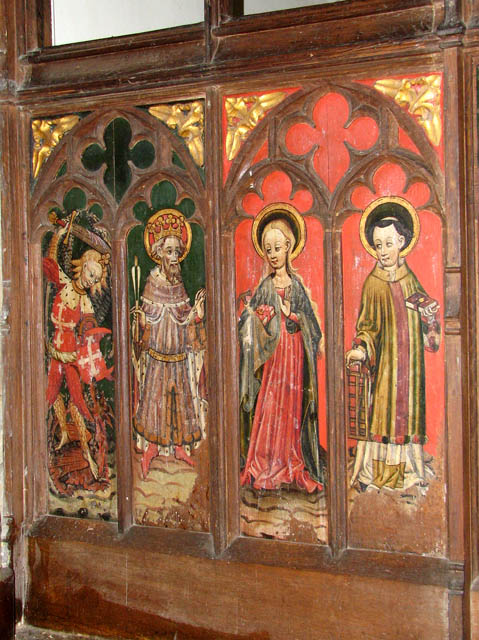 St Mary's church - C15 rood screen (detail)