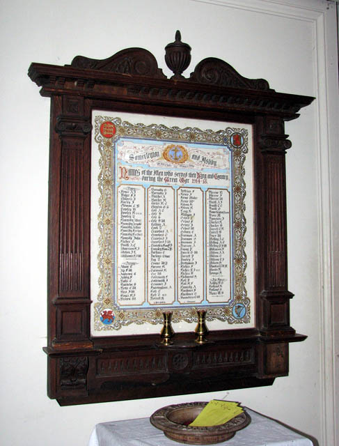 St Mary's church - war memorial