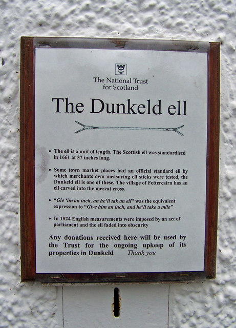 About the Dunkeld ell