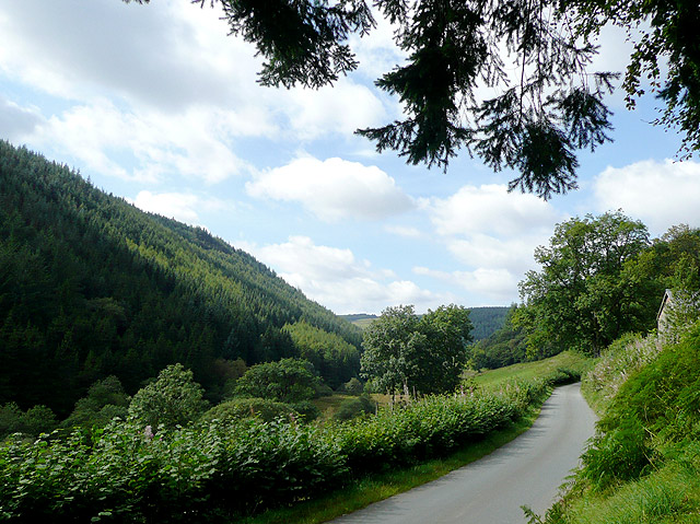 The road to Abergwesyn, Powys